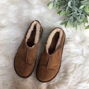 Ugg Tan Leather Clog Slide On Shoes